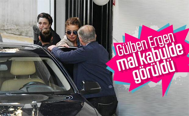 Gülben Ergen magazin muhabirlerinden kaçamadı