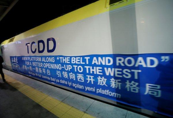 Çin'den gelen yük treni, Marmaray ile Avrupa'ya geçti