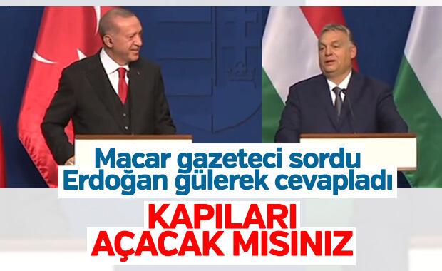Macaristan'da Cumhurbaşkanı Erdoğan'a mülteciler soruldu