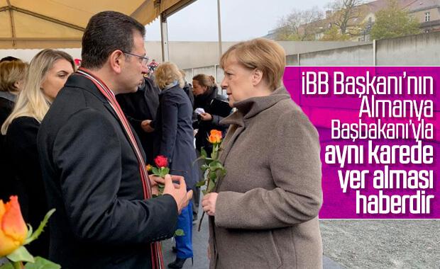Ekrem İmamoğlu, Angela Merkel'le sohbet etti