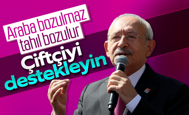 Kemal Kılıçdaroğlu'ndan çiftçilere destek çağrısı