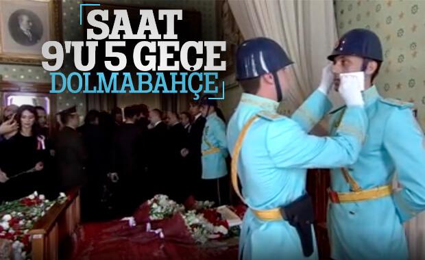 Dolmabahçe Sarayı'nda hüzünlü 10 Kasım töreni