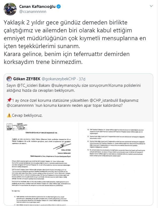Canan Kaftancıoğlu'ndan koruma polisi tepkisi