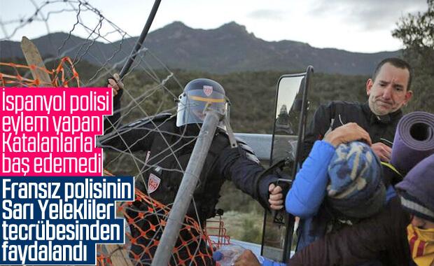 Fransız polisinden İspanya'ya eylemcilere müdahale yardımı
