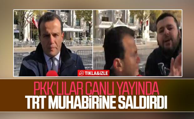 ABD'de terör yandaşları TRT muhabirine saldırdı