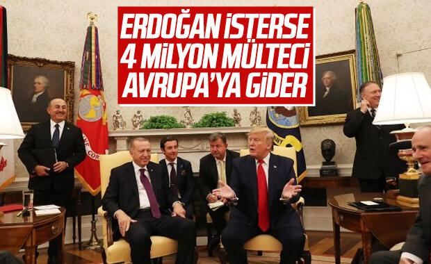 Trump: Türkiye isterse AB'ye 4 milyon mülteci gönderir