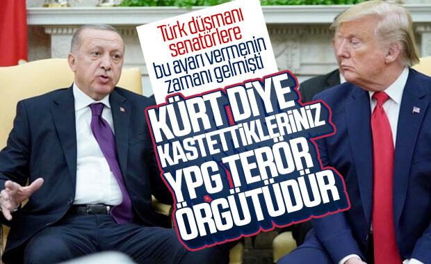 Cumhurbaşkanı Erdoğan'dan senatörlere YPG düzeltmesi