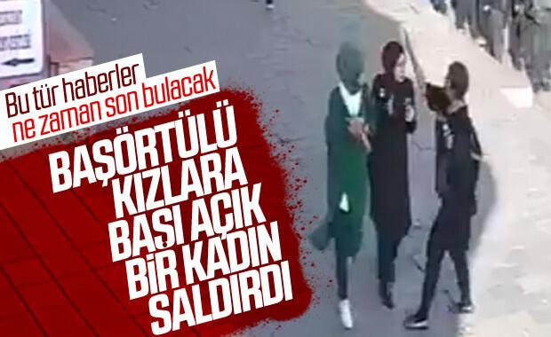 İstanbul Karaköy'de başörtülü kızlara yumruklu saldırı
