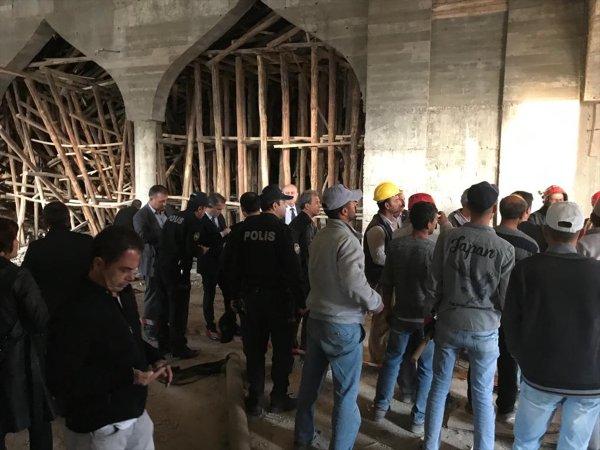 Gaziantep'te cami inşaatındaki göçük