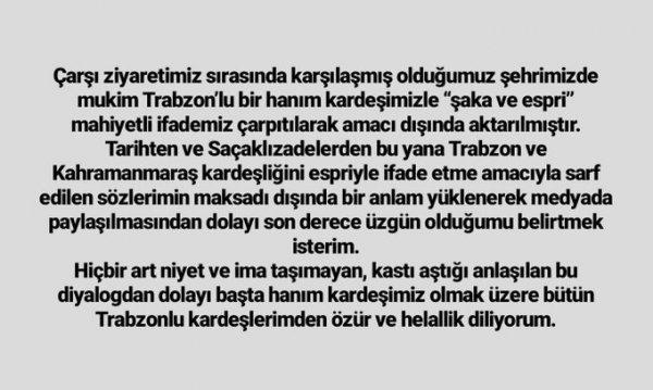 K.Maraş Belediye Başkanı'nın sözlerine Trabzonlular kızdı