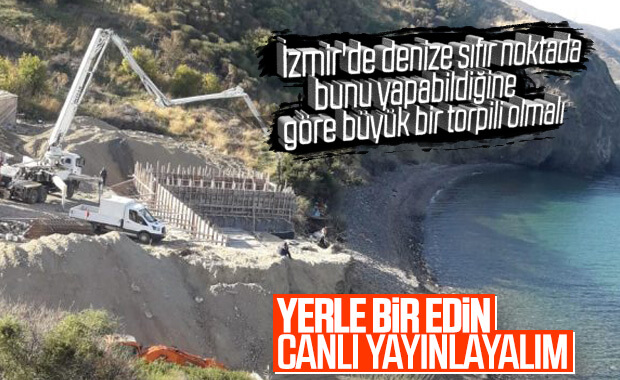 İzmir Karaburun'da doğayı katleden inşaat
