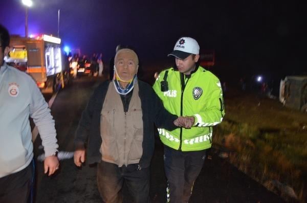 Aksaray'da yolcu otobüsü kazasında 1 ölü 37 yaralı