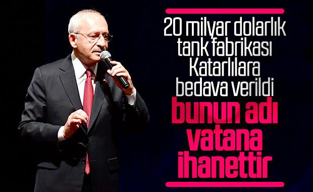 Kılıçdaroğlu'ndan tank-palet için vatana ihanet suçlaması