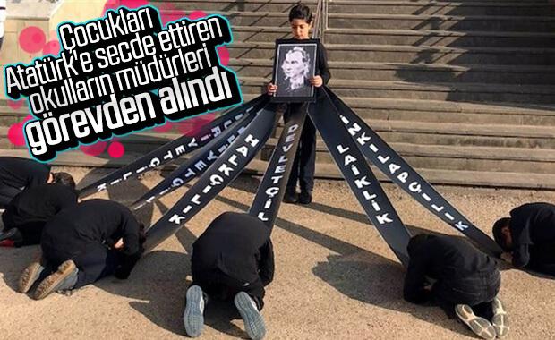 MEB'den öğrencileri Atatürk'e secde ettiren görevliler hakkında karar