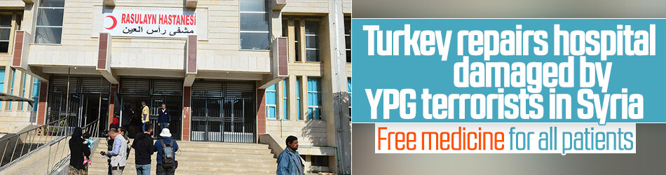 Turkey repairs hospital damaged by YPG terrorists in Syria