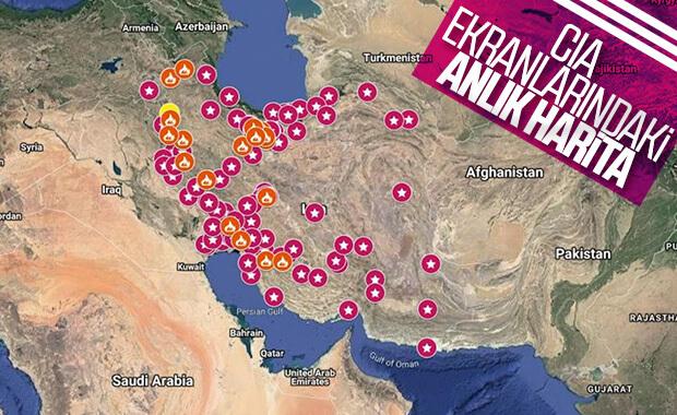 İran'da eylemlerin devam ettiği bölgeler