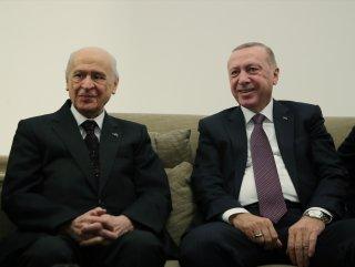 Cumhurbaşkanı Erdoğan, Bahçeli ile bir araya geldi #1