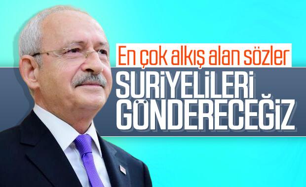 Kılıçdaroğlu: Suriyelileri göndereceğiz