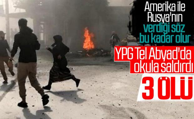 YPG'li teröristler Tel Abyad'da okula saldırdı: 3 ölü