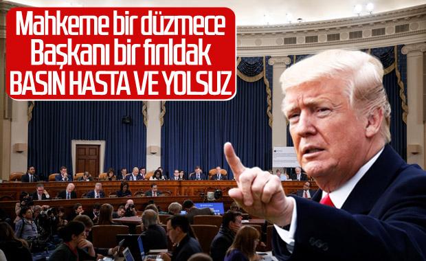 Trump: Düzmece bir mahkeme