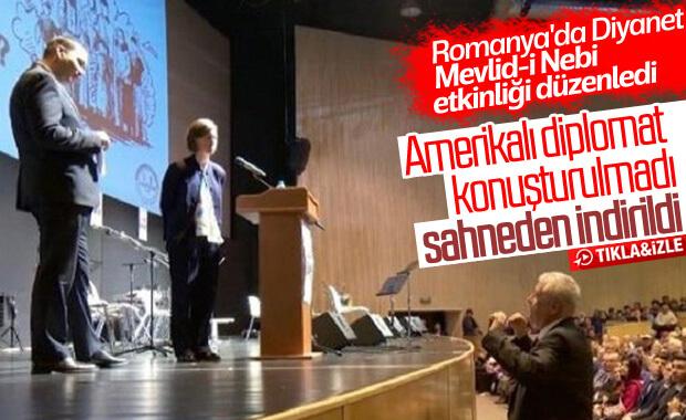 Romanya'da ABD'li diplomat konuşturulmadı