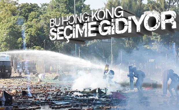 Hong Kong'da halk, yerel seçime gidiyor