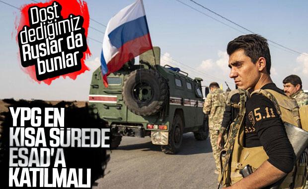Rusya'dan YPG'ye çağrı: Esad'a katılın