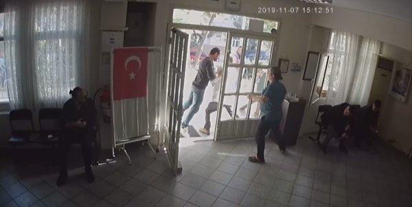 İzmir'de doktora şiddetin görüntüleri