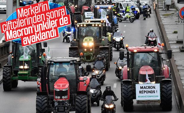 Fransa'da çiftçiler tarım politikasını protesto etti