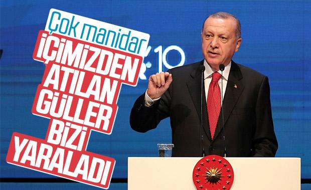 Erdoğan'dan 'içimizden atılan güller' çıkışı