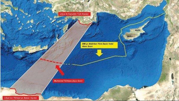 Türkiye ile Libya artık Akdeniz'de komşu