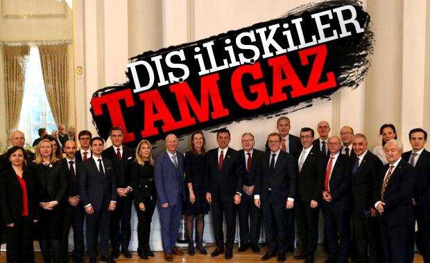 İmamoğlu 10 ülkenin ticaret odası başkanlarıyla buluştu