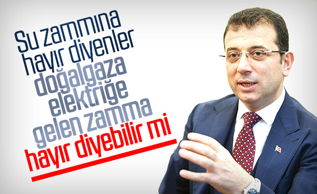 İstanbul'da su zammı Ekrem İmamoğlu'na soruldu