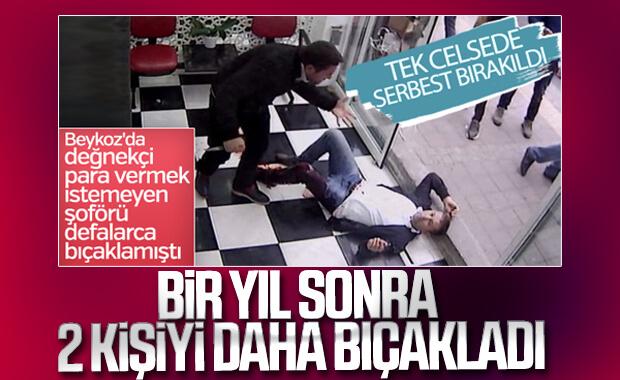 İstanbul'da değnekçi bu kez iki kişiyi bıçakladı