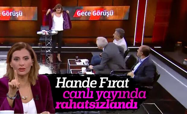 Hande Fırat canlı yayına devam edemedi