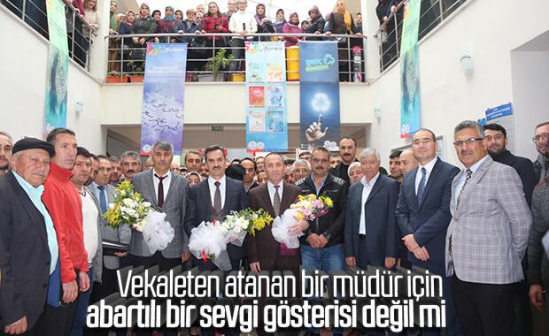 Çankırı'da atanan müdüre şatafatlı karşılama