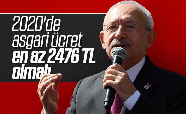 Kılıçdaroğlu, 2020 için beklediği asgari ücreti açıkladı