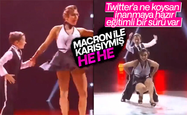 Macron'un çocukken eşiyle dansı olduğu iddia edilen video