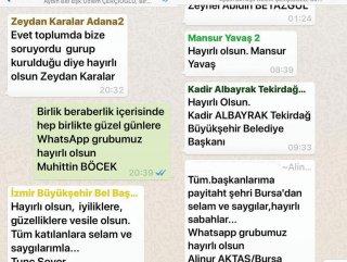 Belediye başkanlarının WhatsApp grubunda çözüm yok #1