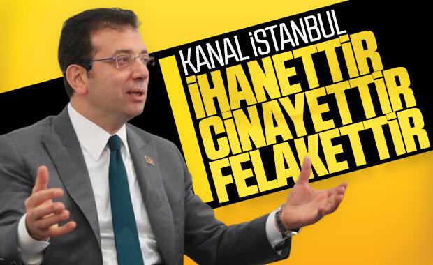Ekrem İmamoğlu, Kanal İstanbul projesine karşı