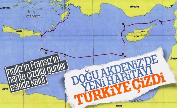Doğu Akdeniz'deki yeni kıta sahanlığı haritası