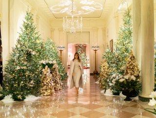 Melania Trump, Beyaz Saray'ı yılbaşına hazırladı #1