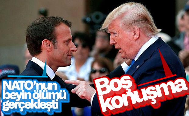 Trump'tan NATO yorumu yapan Macron'a eleştiri