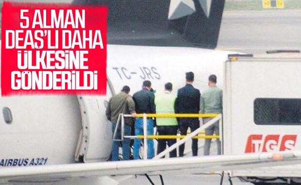 Alman vatandaşı 5 DEAŞ'lı sınır dışı edildi