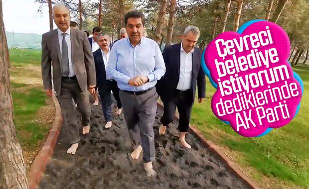 Türkiye'nin ilk ayakkabısız girilen parkı Esenler'de