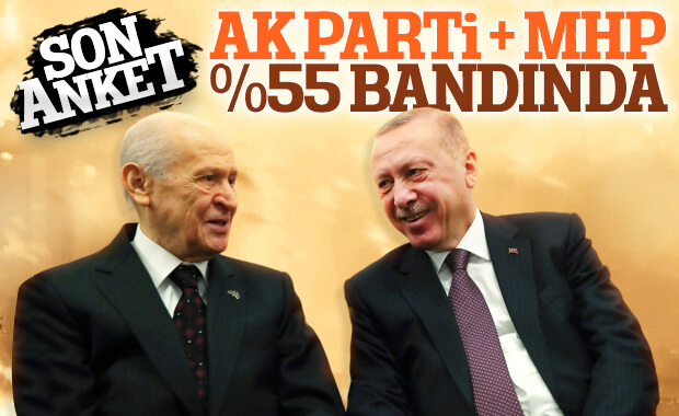 AK Parti ve MHP'nin oyları yükselişte