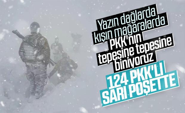 Kıran operasyonlarında 124 terörist öldürüldü
