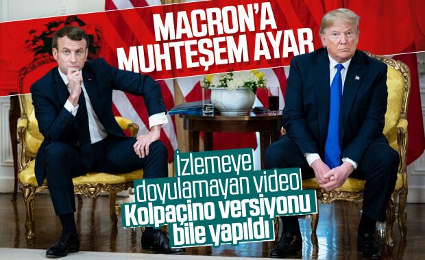 Trump, Macron'u köşeye sıkıştırdı