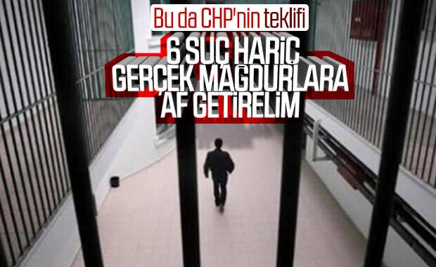 CHP'den mahkumlar için ayrı düzenleme teklifi