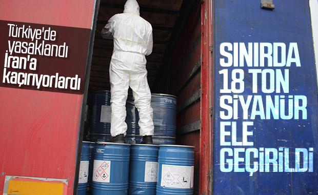 Gürbulak Sınır Kapısı'nda 18,4 ton siyanür bulundu